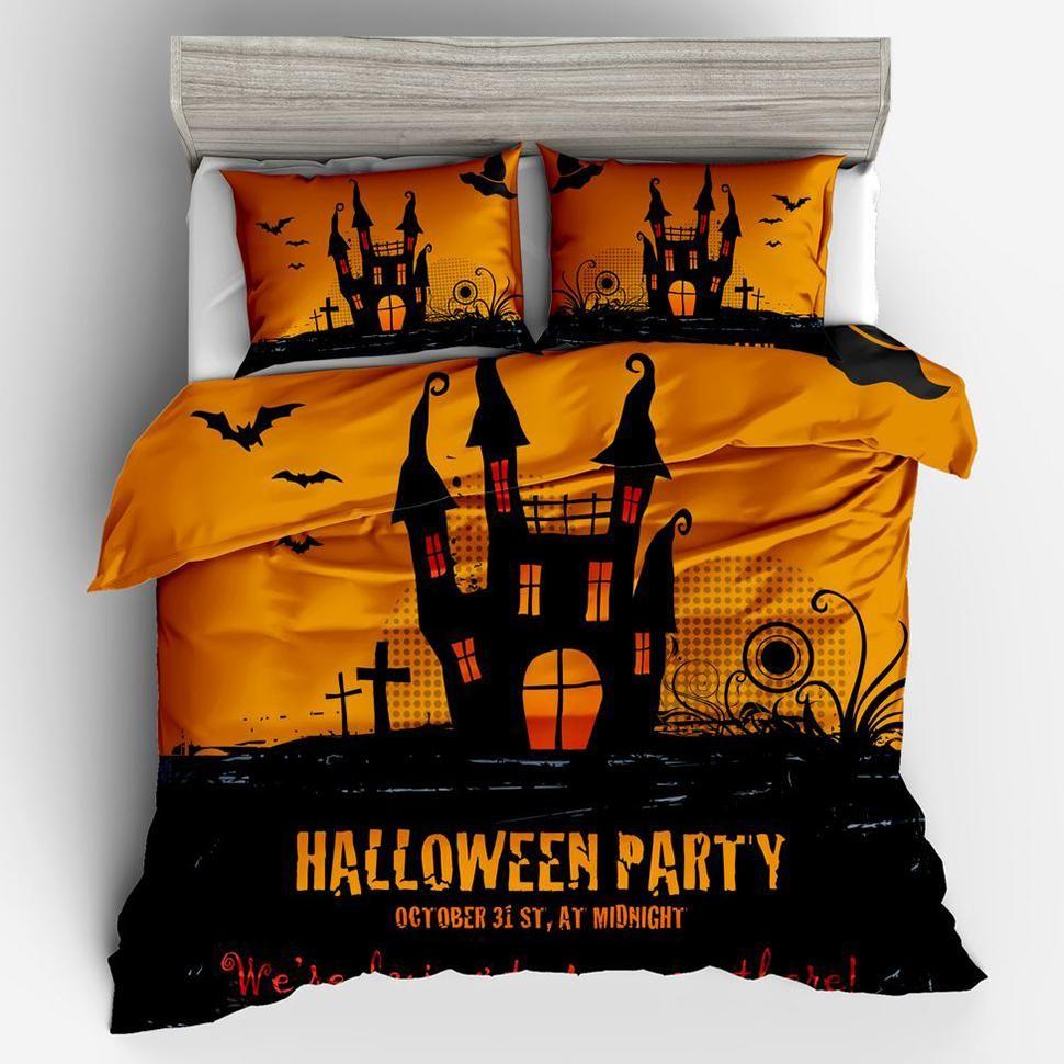 3d Black Castle Nightmare Before Christmas Bedding Sets Double Duvet ...