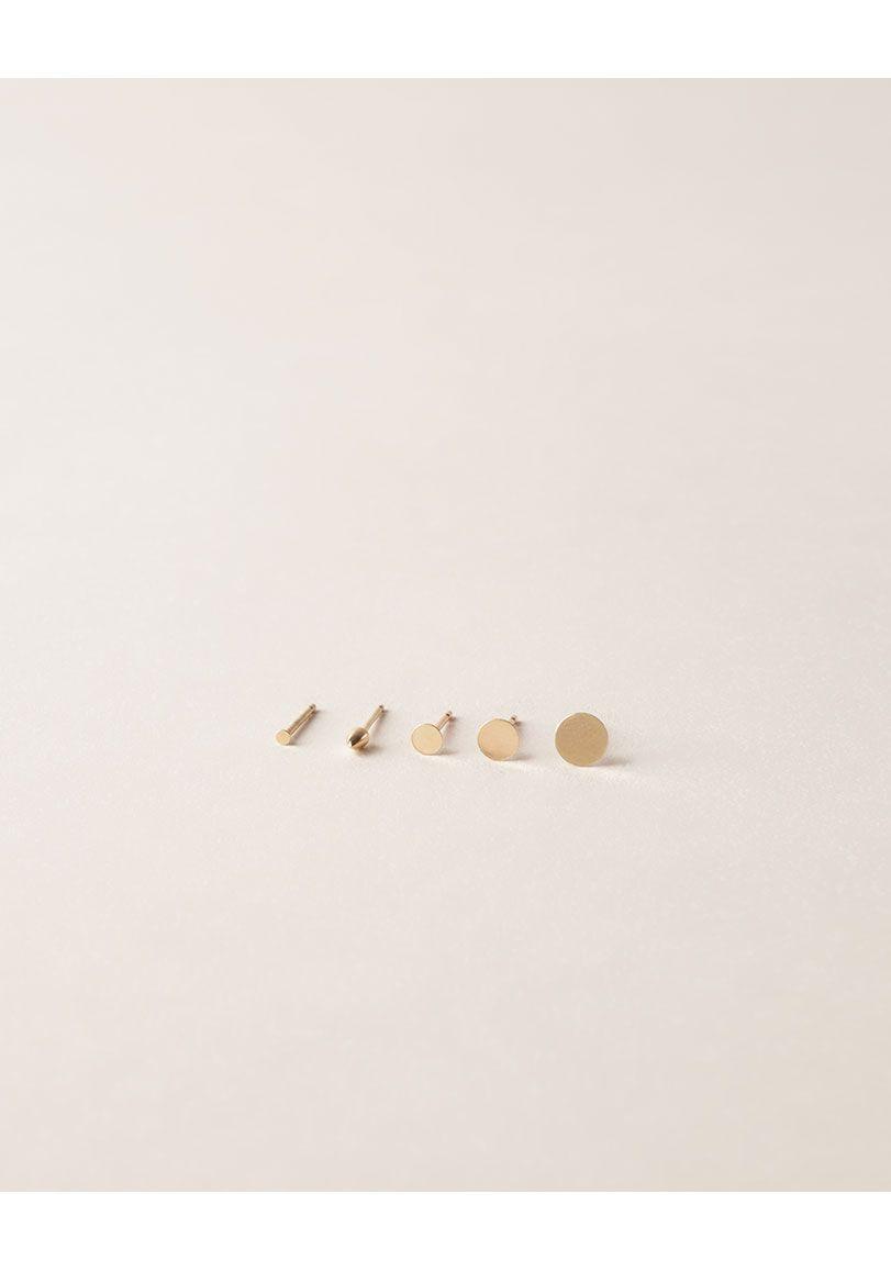 Style - Minimal + Classic: Kathleen Whitakeb | Tiny Dot Earring | La Garconne