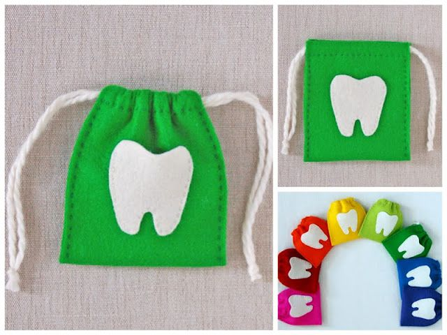 DIY tooth fairy bags