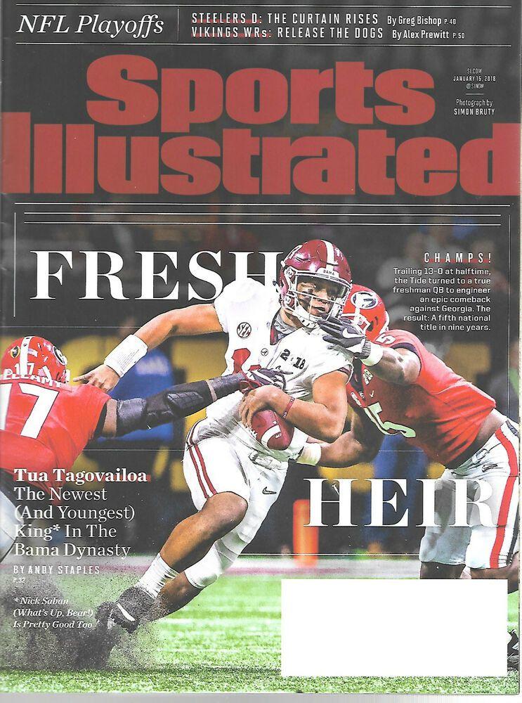 Sports Illustrated January 15 2018 Tua Tagovailoa Alabama Crimson Tide Football Alabamac In 2020 Alabama Crimson Tide Alabama Crimson Tide Football Sports Illustrated