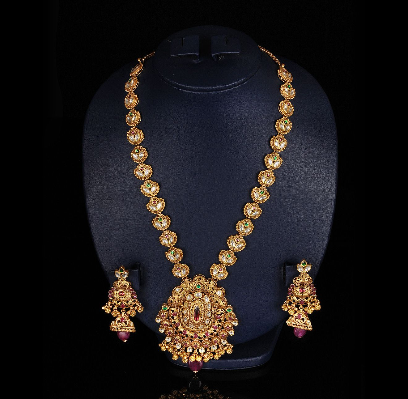1 stylish gold necklace | jwellary | Pinterest | Indian jewelry ...