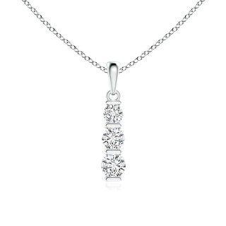 Angara 36mm three stone round diamond journey pendant necklace in angara 36mm three stone round diamond journey pendant necklace in platinum white h i aloadofball Images