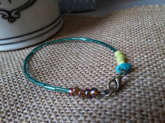 Check out this item in my Etsy shop https://www.etsy.com/listing/243983834/single-strand-shakira-bracelet