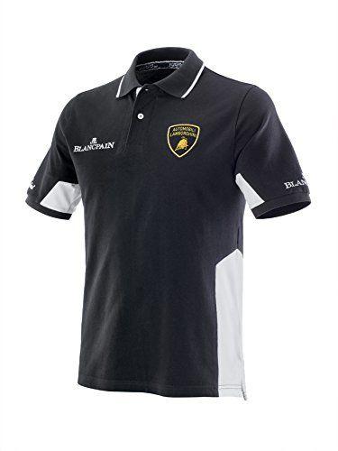 LAMBORGHINI Squadra Corse Men/'s Polo Shirt in Dark Grey