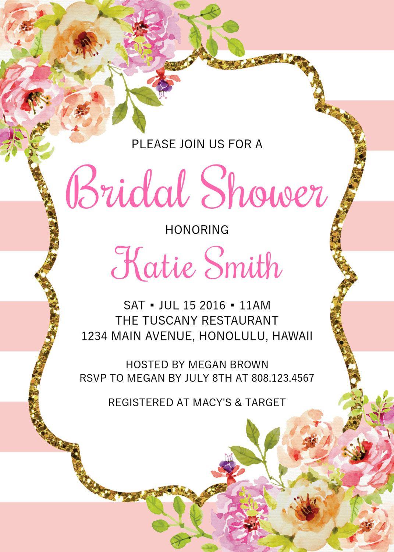 90th Birthday Invitation, Black White Gold, Pink Floral, Women ...