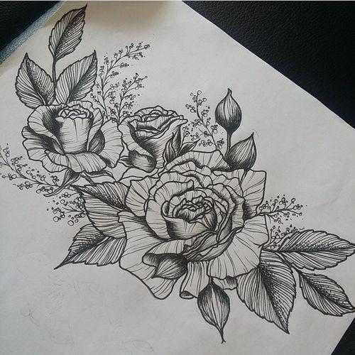 44 Awesome Hip Rose Tattoos: Tattoos&Piercings