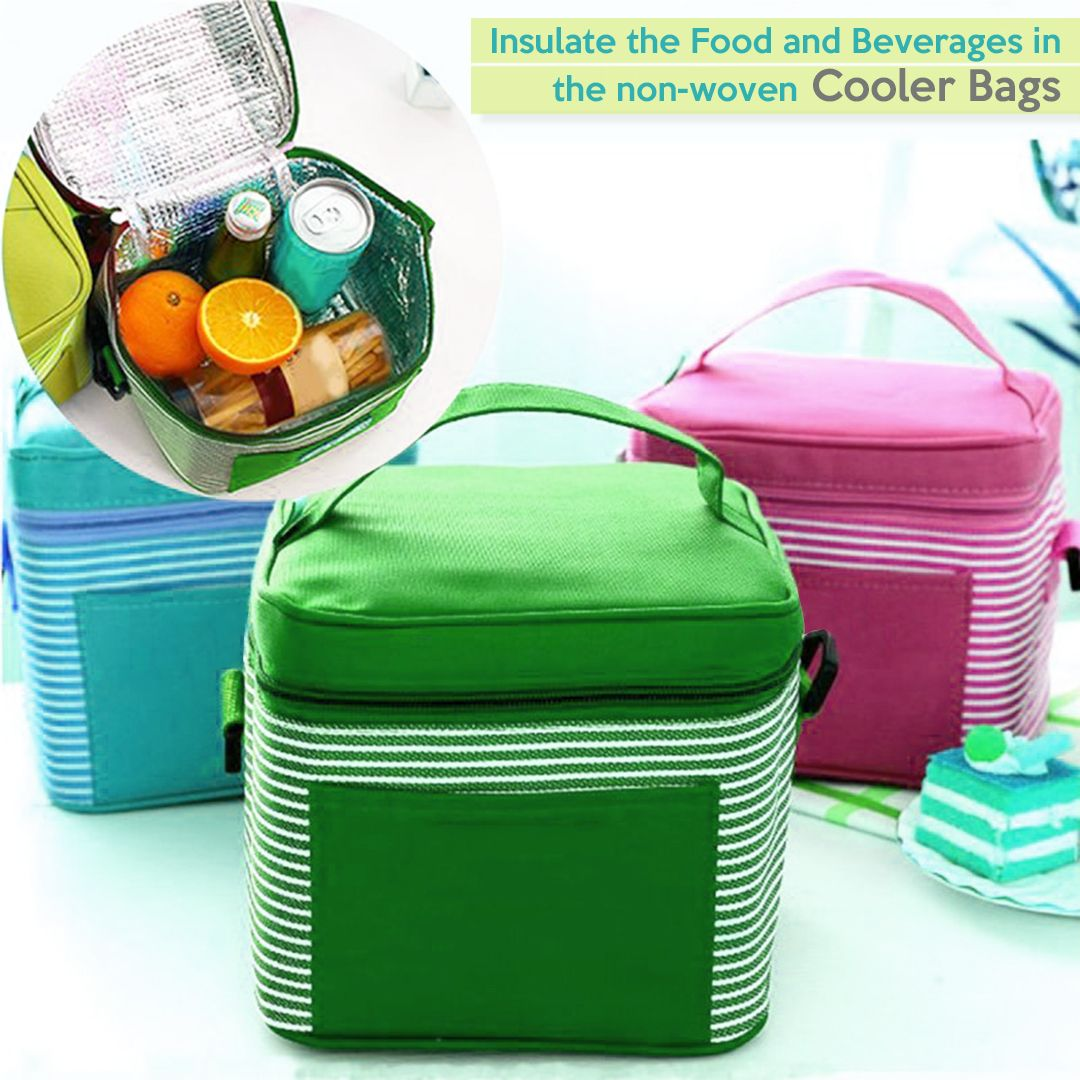Insulate The Food And Beverages In The Non Woven Cooler Bags Fun Bags Cooler Bag Promotional Bags