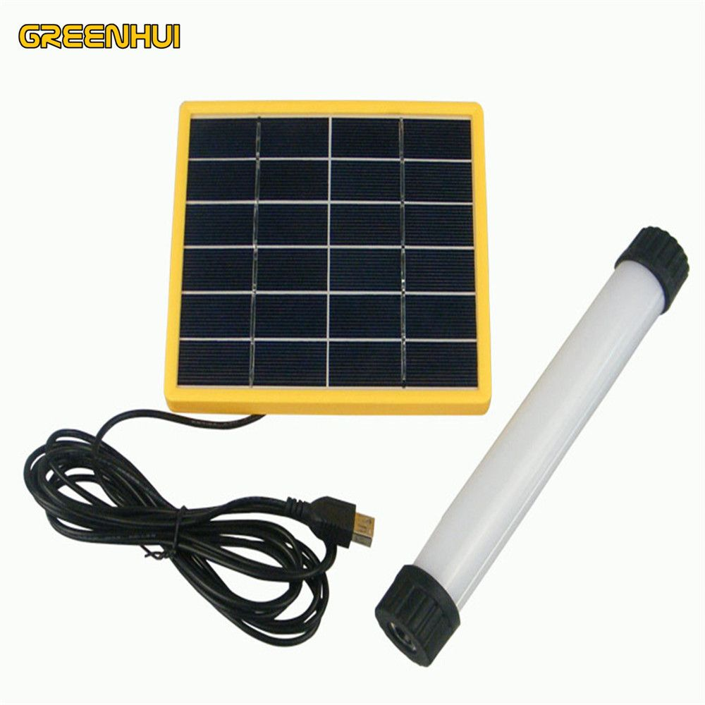 High Quality Solar Panel Power Multi Function Led Tube 3w 3014smd Outdoor Camping Tent Portable Emergency Light Flashlight Solar Camping Outdoor Lighting Led Tubes