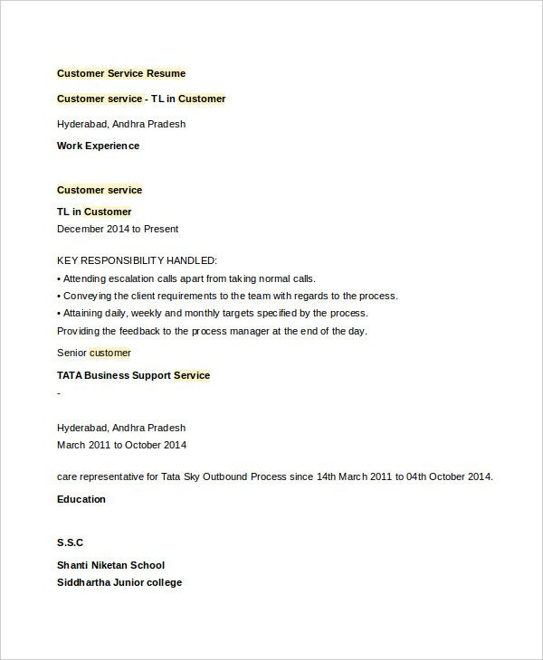 Customer Service Resume , Customer Service Manager Resume , Are you - resume requirements