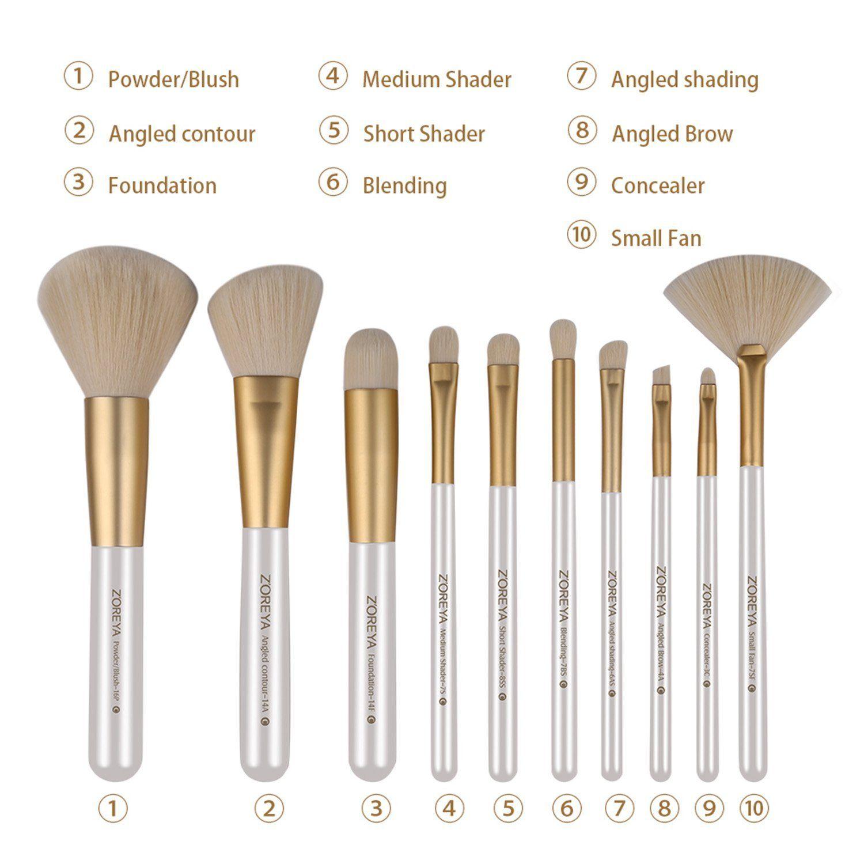 Zoreyatm Makeup Brushes Professional Brush Set Premium Holder Case With Contour