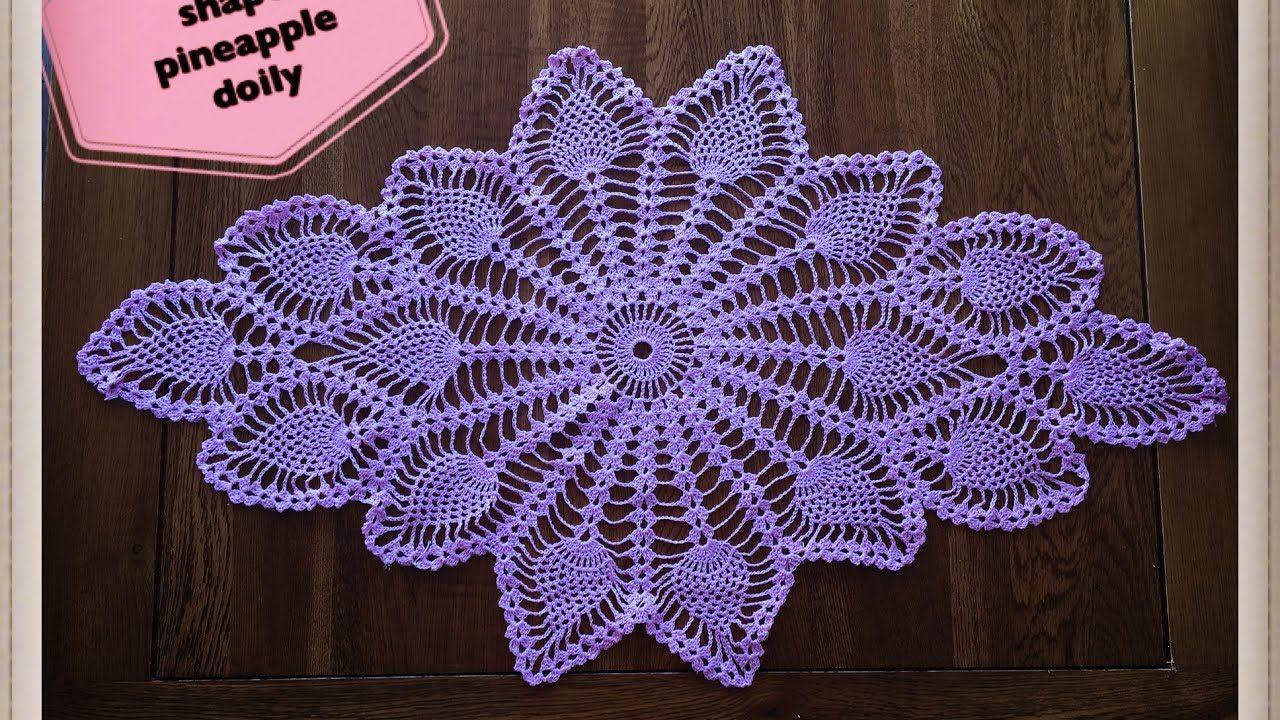 How to crochet diamond shape pineapple doily Part 1 of 2 | салфетка ...