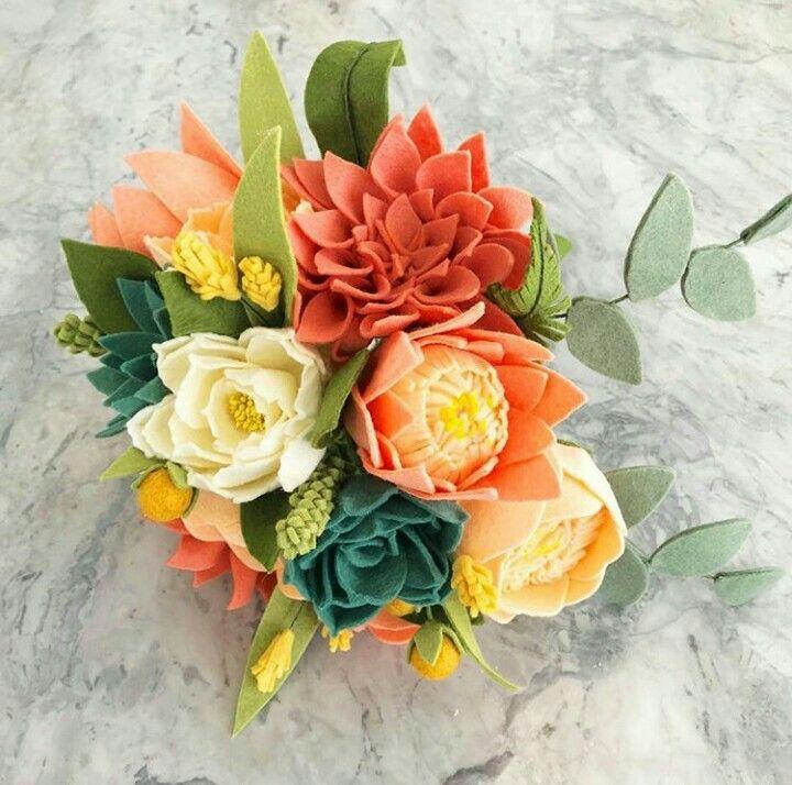 Pin by @freshlyfeltedflowers on Felty Flowers   Pinterest   Felt ...