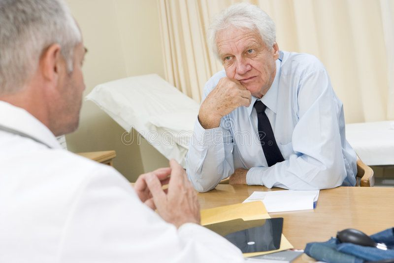 Man in doctor's office. Frowning , #AFF, #doctor, #Man, #Frowning, #office #ad #doctoroffice