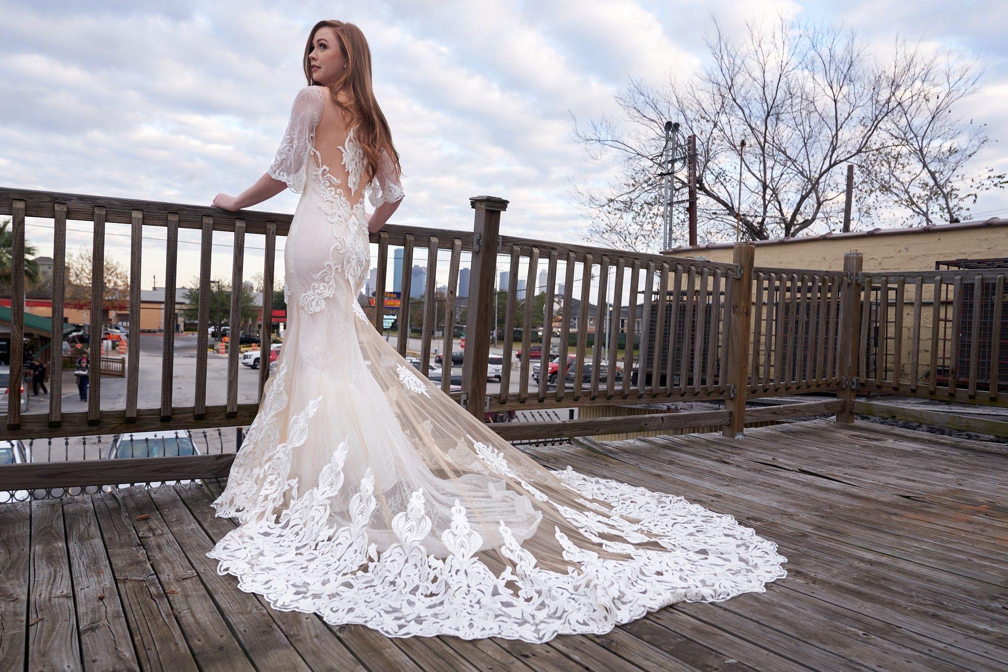 Beautiful Back With Ling Train Wedding Dress From Vivienne Atelier Wedding Dresses Wedding Dress Train Bridal Dresses