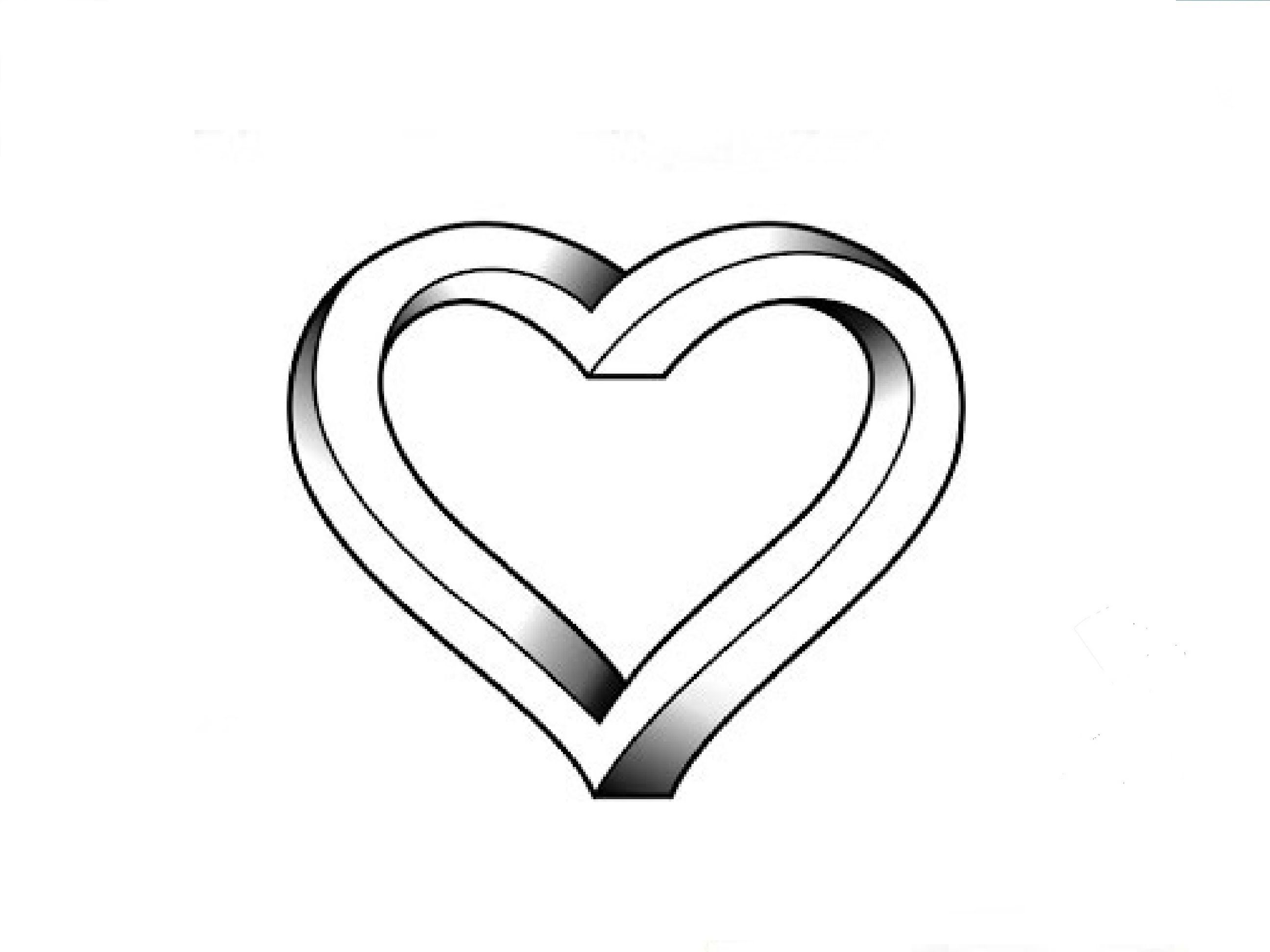 drawings of hearts - HD2592×1944