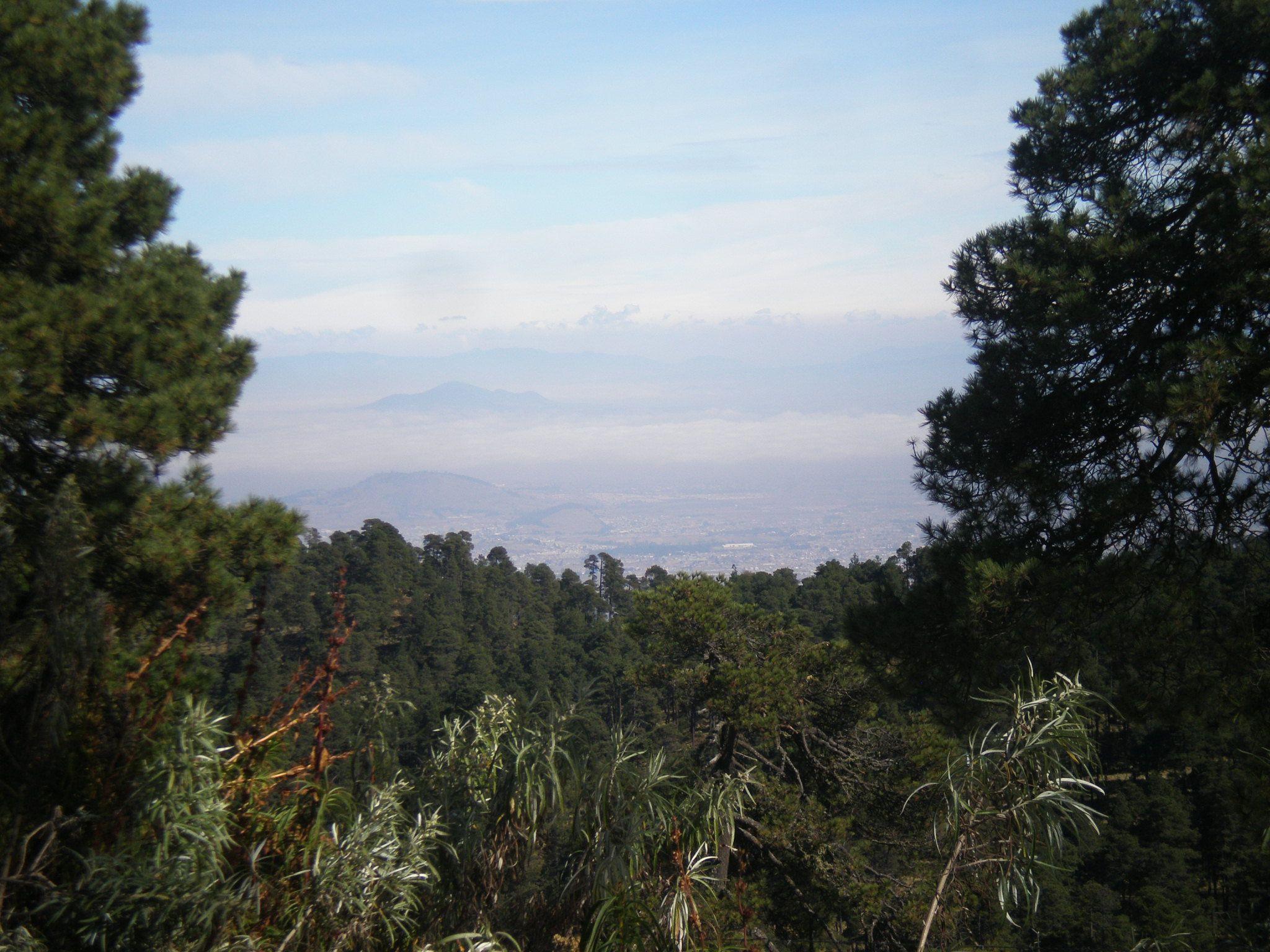 Tomada el 28-dic-2014, vista hacia el valle de Toluca , Mexico