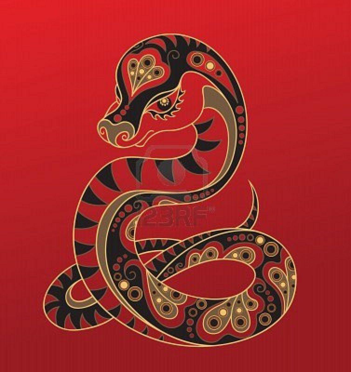 Stock Vector Chinese zodiac snake, Chinese zodiac signs