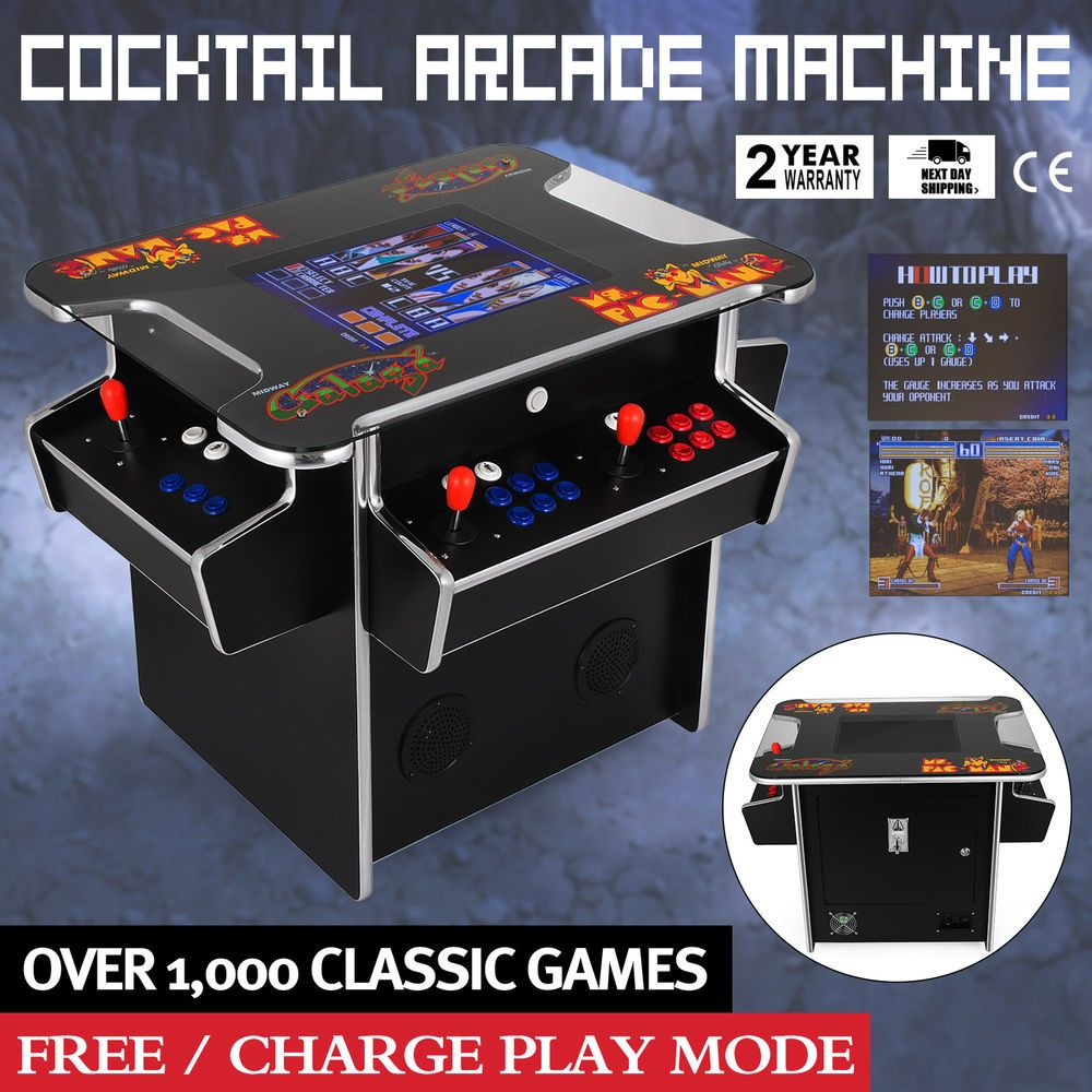 Cocktail Arcade Machine feat 60 Classic Games FREE SHIPPING 1 Year Warranty