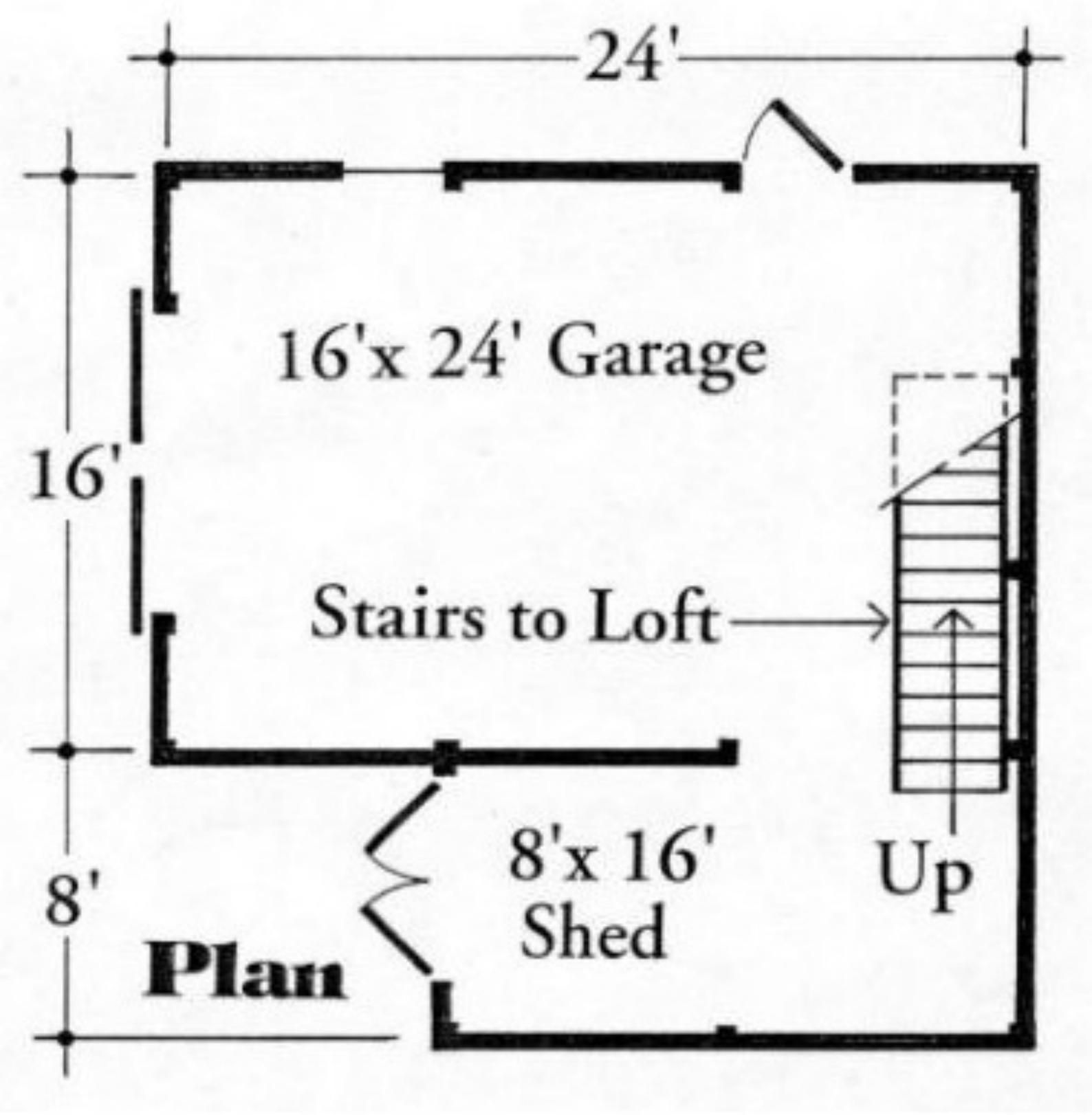 3 OneCar Garage Plans with Lofts Three Different Sets
