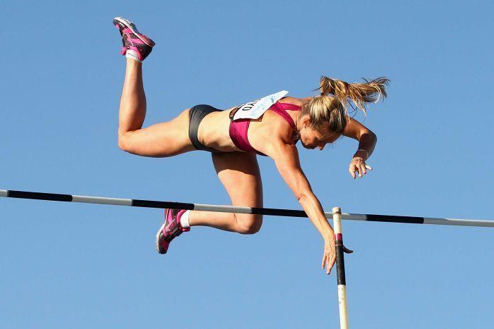 Hot Pole Vaulter