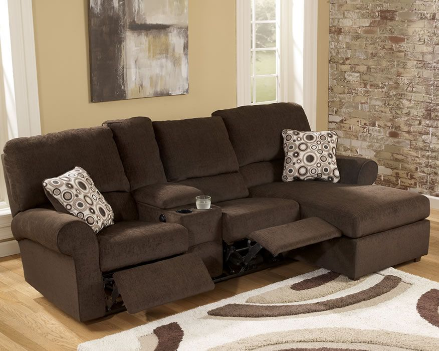 small chocolate microfiber loveseat recliner right chaise sectional sofa set loveseat recliners recliner and living room inspiration