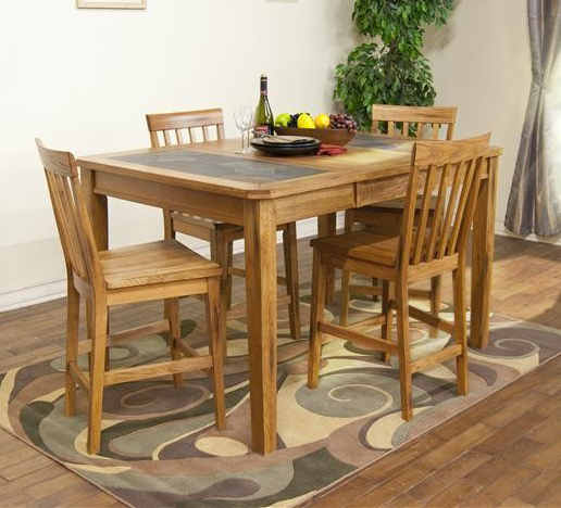 Sedona Extension Gathering Table With Slate Top | American Home |  Albuquerque, Santa Fe,