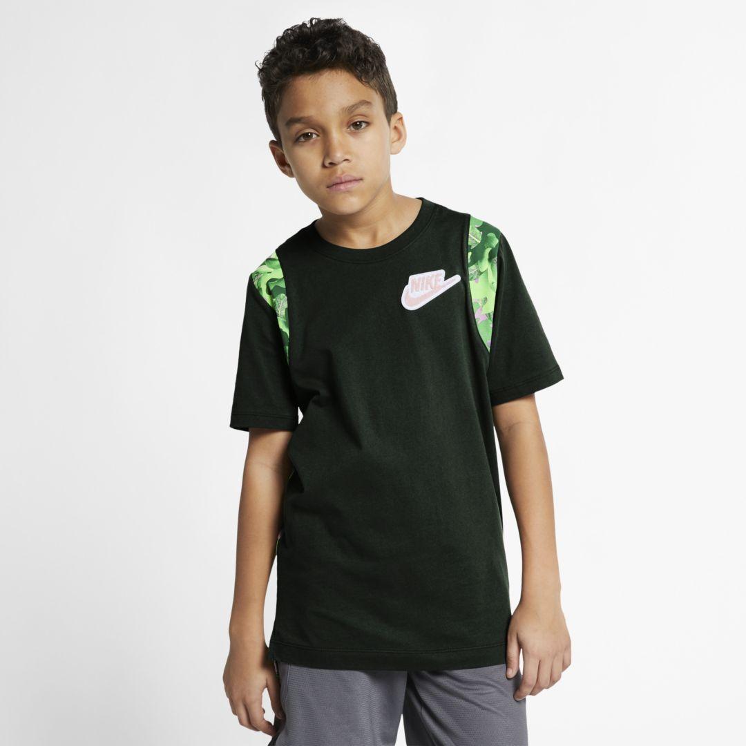 97dc987f Nike Sportswear Big Kids' (Boys') T-Shirt Size XS (Outdoor Green) in ...