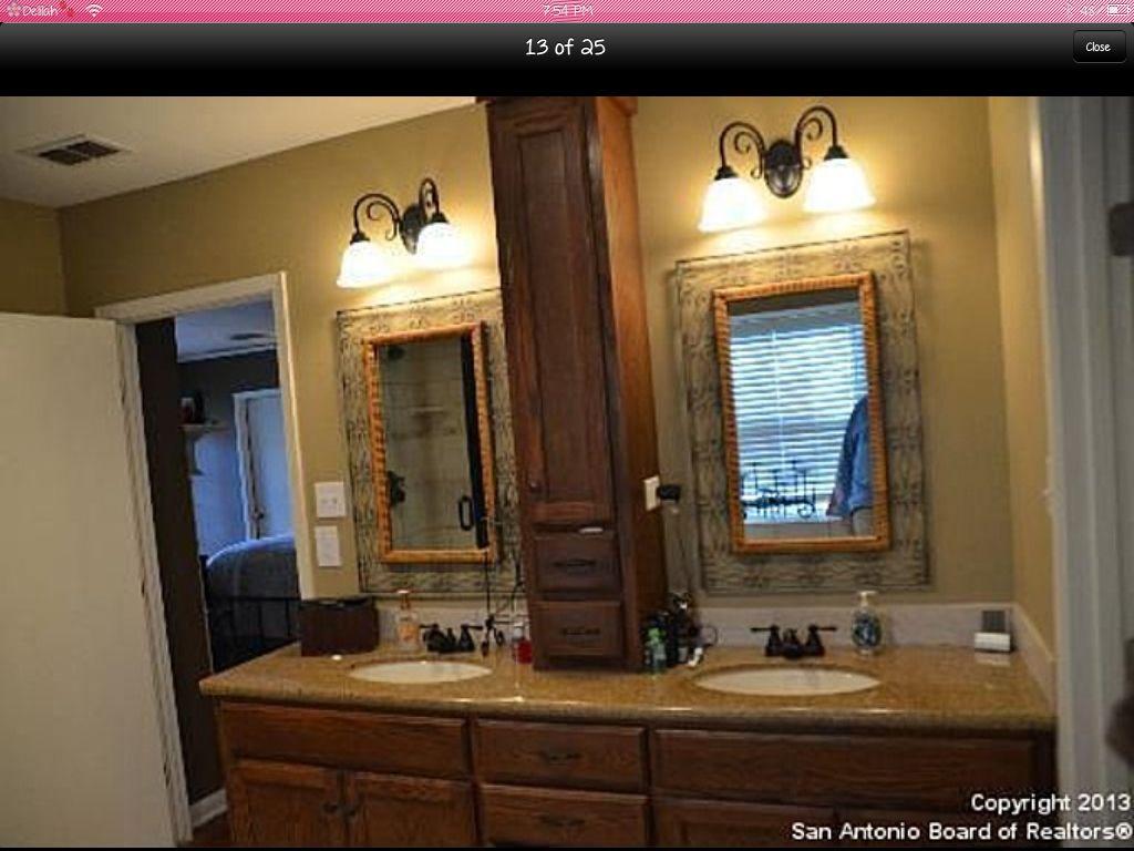Master bath vanity, center cabinet too skinny