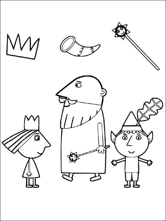 ben und hollys kleines königreich 8 ausmalbilder für