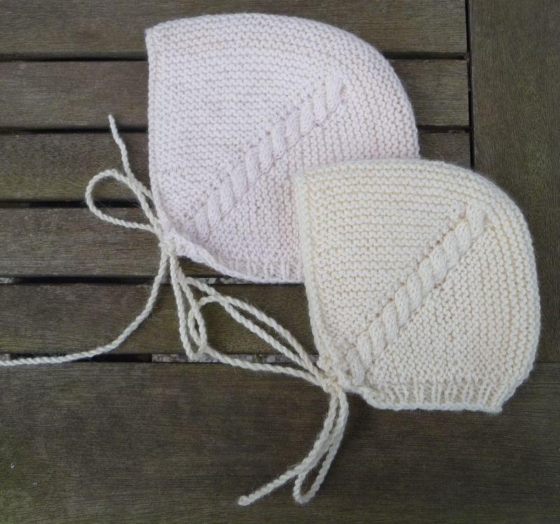 Bonnet tricoté pour bébé - Poupées, couture et autre fil | Bebe ...
