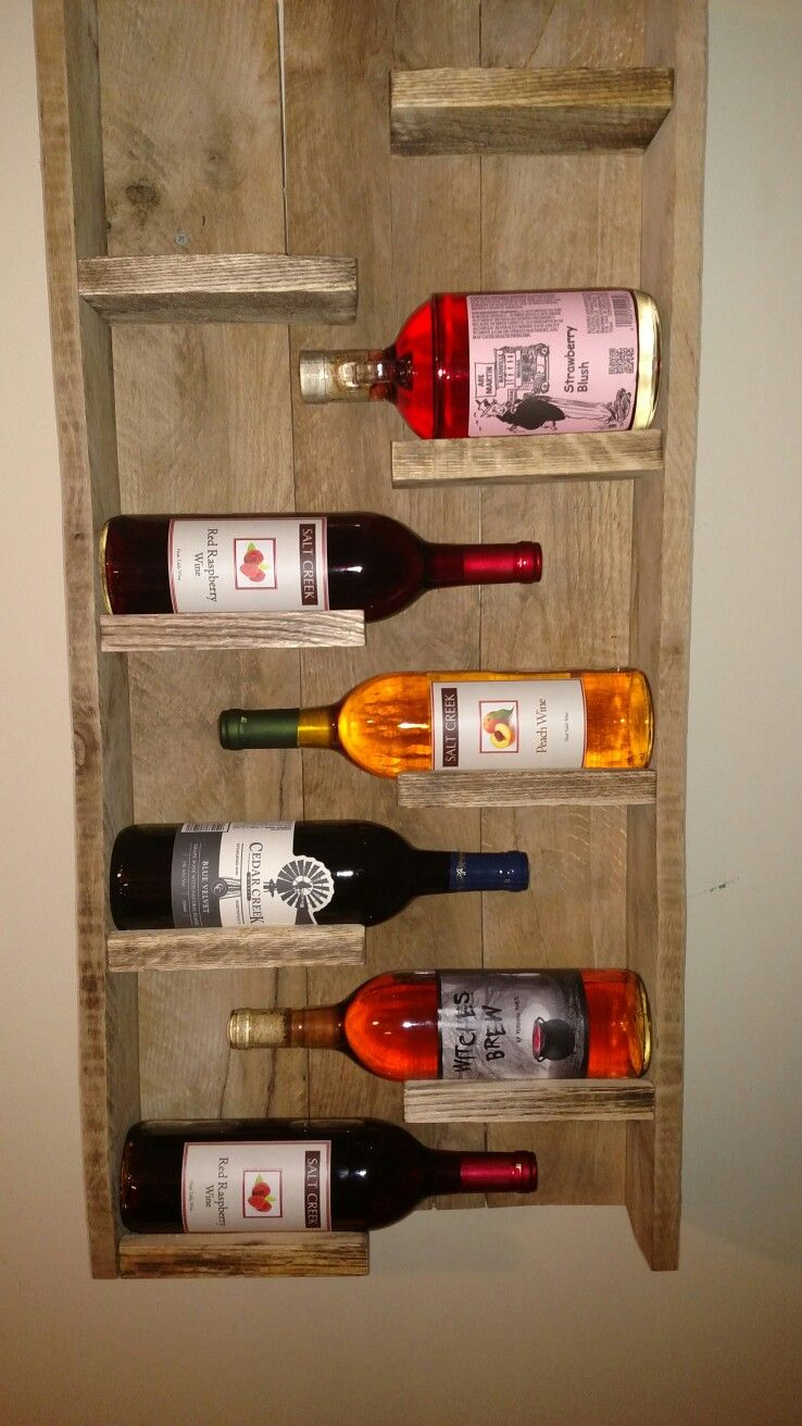 8 bottle reclaimed wood wall mounted wine rack diy