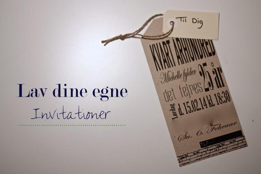 Sådan laver du dine egne invitationer i PowerPoint | DIY | 25 års fødselsdag, Fødselsdag og 50 ...