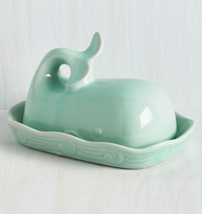 Blue Whale Butter Dish Decor Home Decor