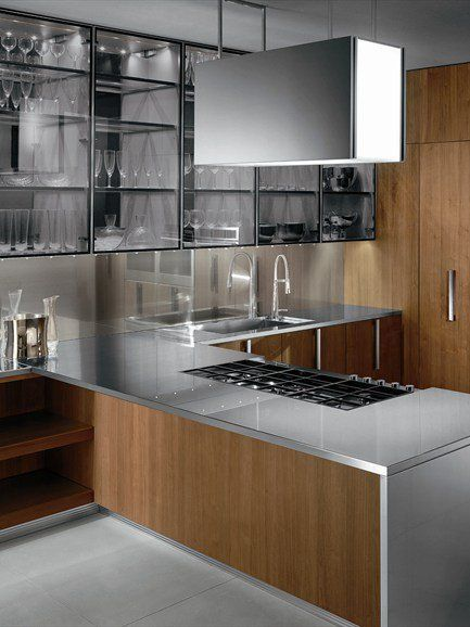 BARRIQUE Steel #kitchen by @Ernesto Meda #design Rodolfo - ernestomeda barrique