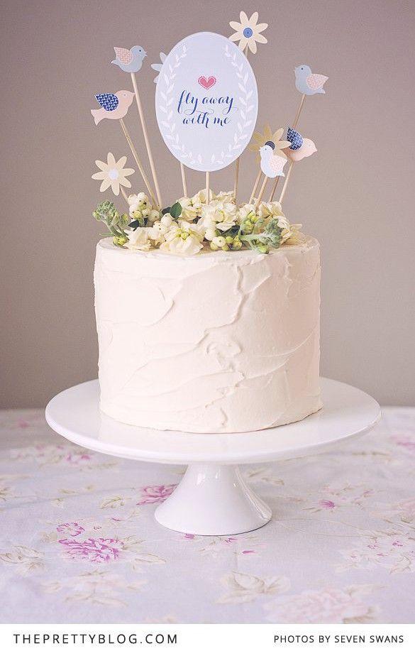 Let them eat cake Diy cake topper Eat cake and Cake