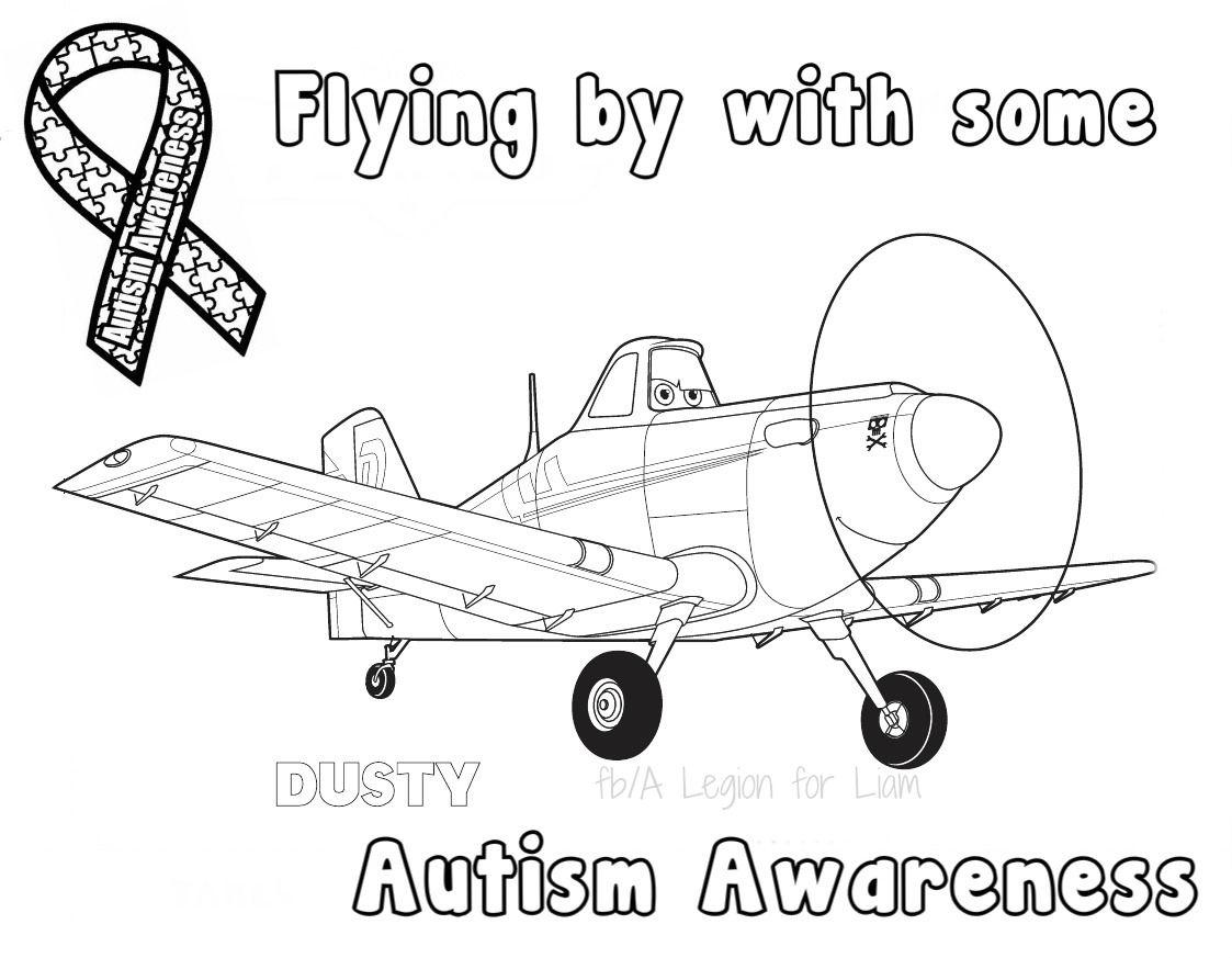 Disney #planes #autism coloring page by A Legion for Liam | Autism ...