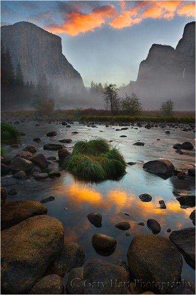 Sunrise Reflection, Valley View, Yosemite