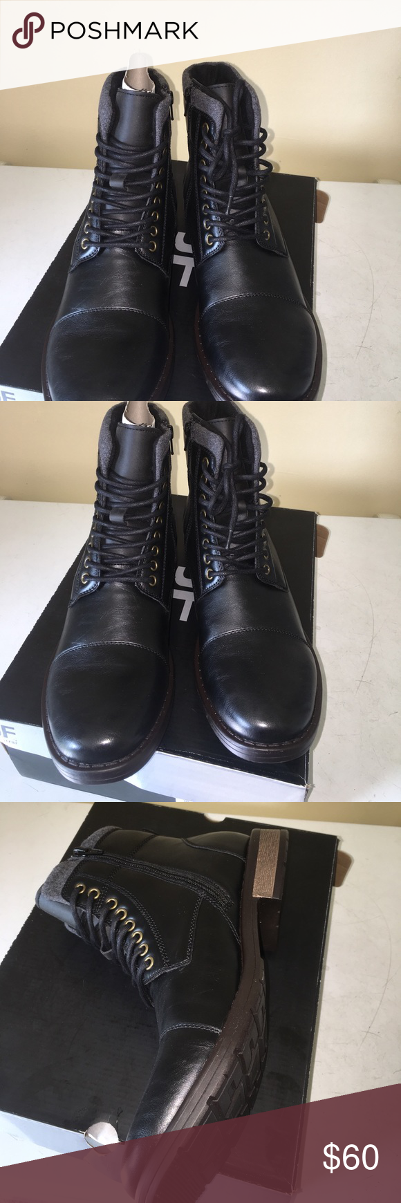 87be3626a8bb JF J.Ferrar men s black Quiqui lace up boot 11USA Made for rugged yet  stylish wear