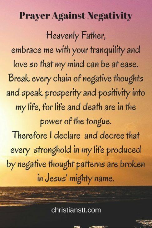 Prayer Against Negativity | Prayer request | Prayer scriptures