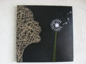 dandelion string art ohmyword i love this would this be too difficult d co pinterest. Black Bedroom Furniture Sets. Home Design Ideas