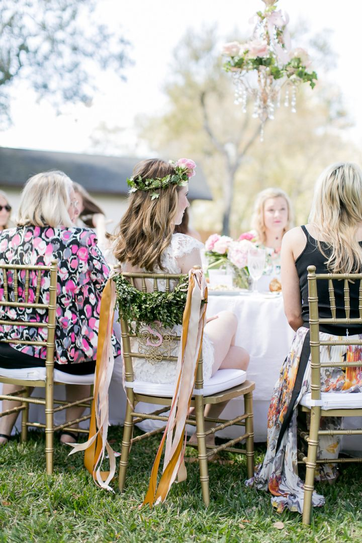 This feminine bridal shower in the backyard will make you want to have one
