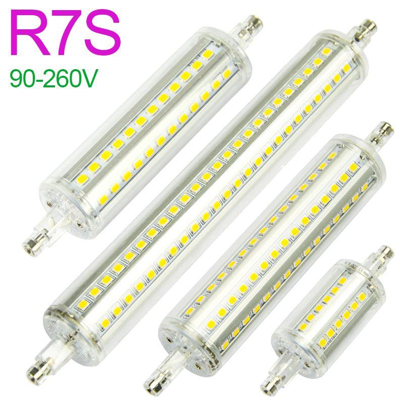 New R7S LED Lamp 5W 10W 12W 15W SMD 2835 78mm 118mm 135mm 189mm LED