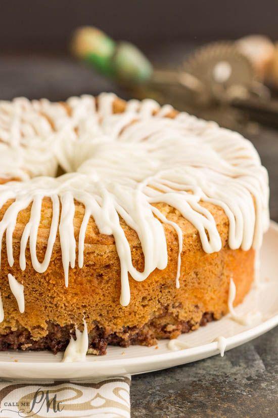 Homemade Sour Cream Cinnamon Roll Pound Cake Recipe With Cream Cheese Frosting Cinnamon Roll Pound Cake Homemade Sour Cream Pound Cake Recipes