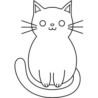 Free Cat Clipart Silhouette Vector Freepatternsarea Cat Outline Cat Outline Tattoo Cat Template