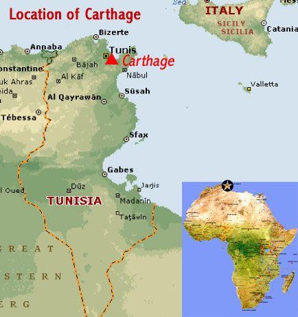 Carthage Map Africa ~ CRIANDIARTES