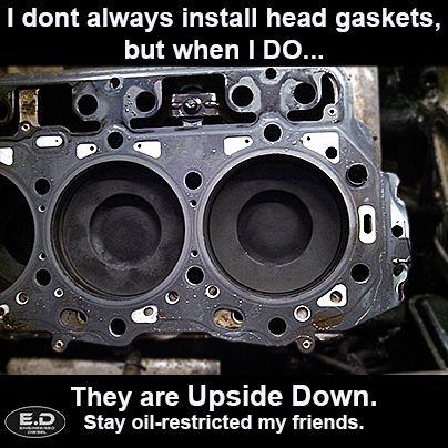 engineereddiesel meme, chevy duramax headgasket upsidedown #diesel