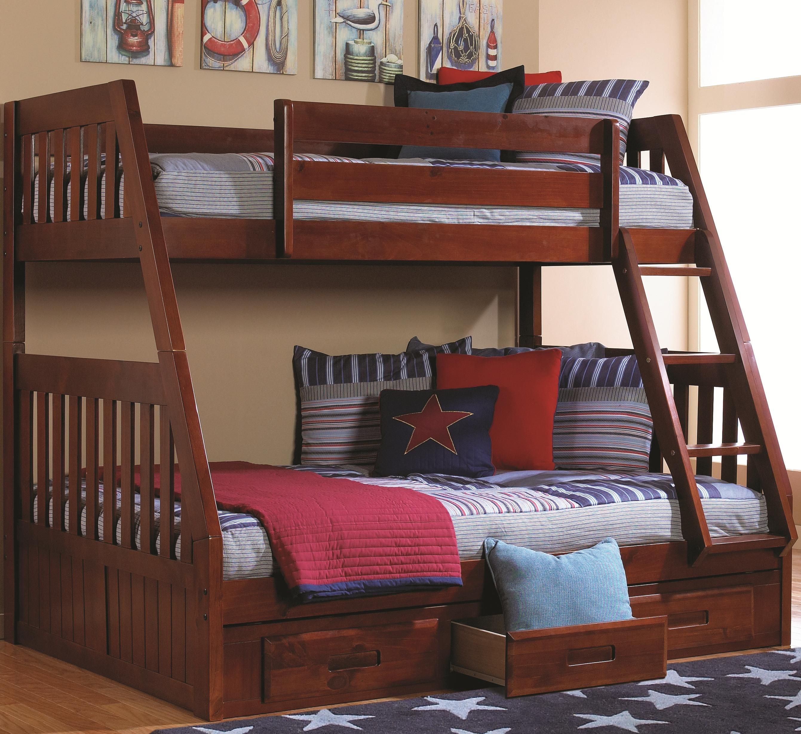 twin bed heavy metal bunk over full beds white powell canada