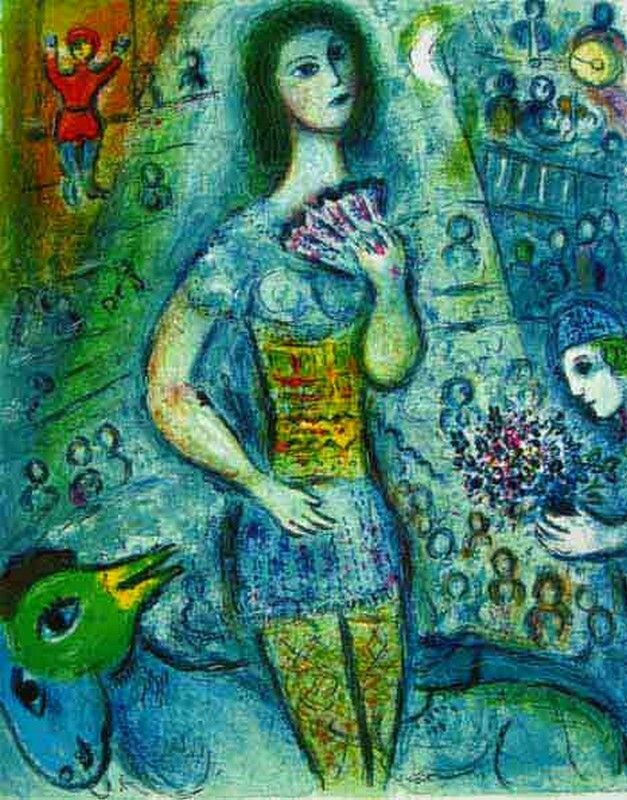 Marc Chagall  The Dancer