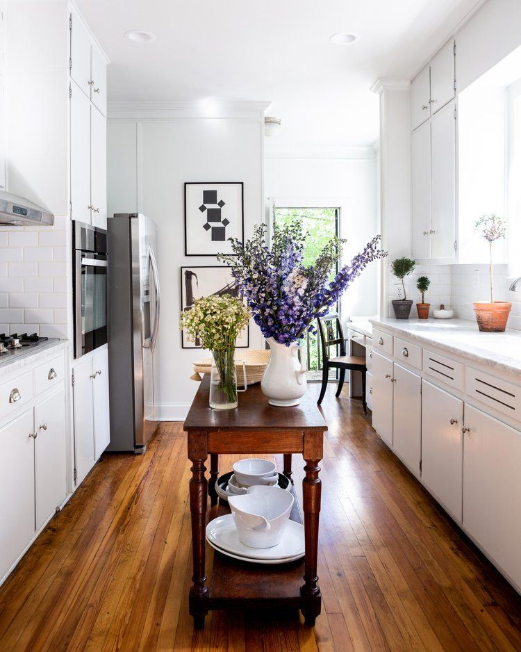Blue And White Home A Blog Devoted To Interiors Galley Kitchens Small