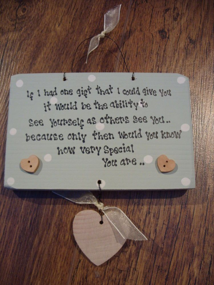 Shabby Personalised Wooden Chic Special Friend Gift Best Birthday